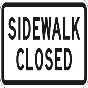 Where to find Side Walk Closed in Redwood City
